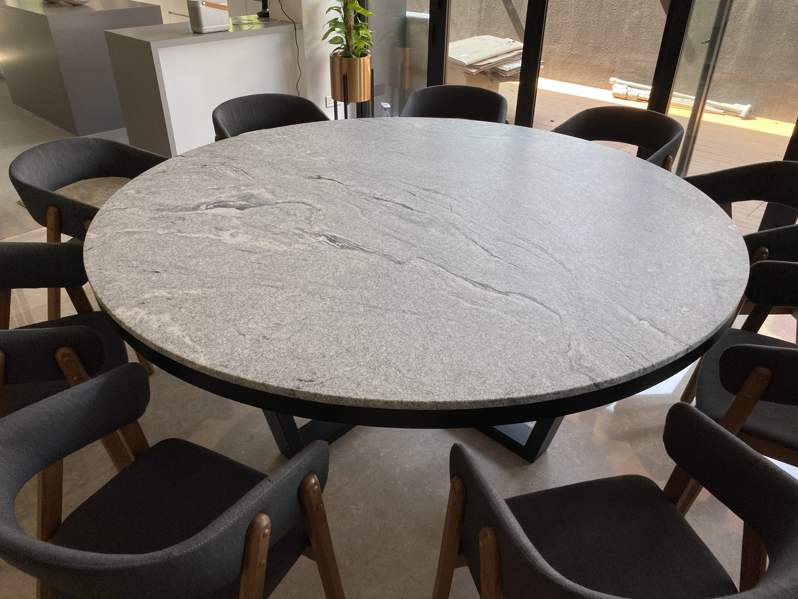 Dexter with Trimming Granite Dining Table (31)