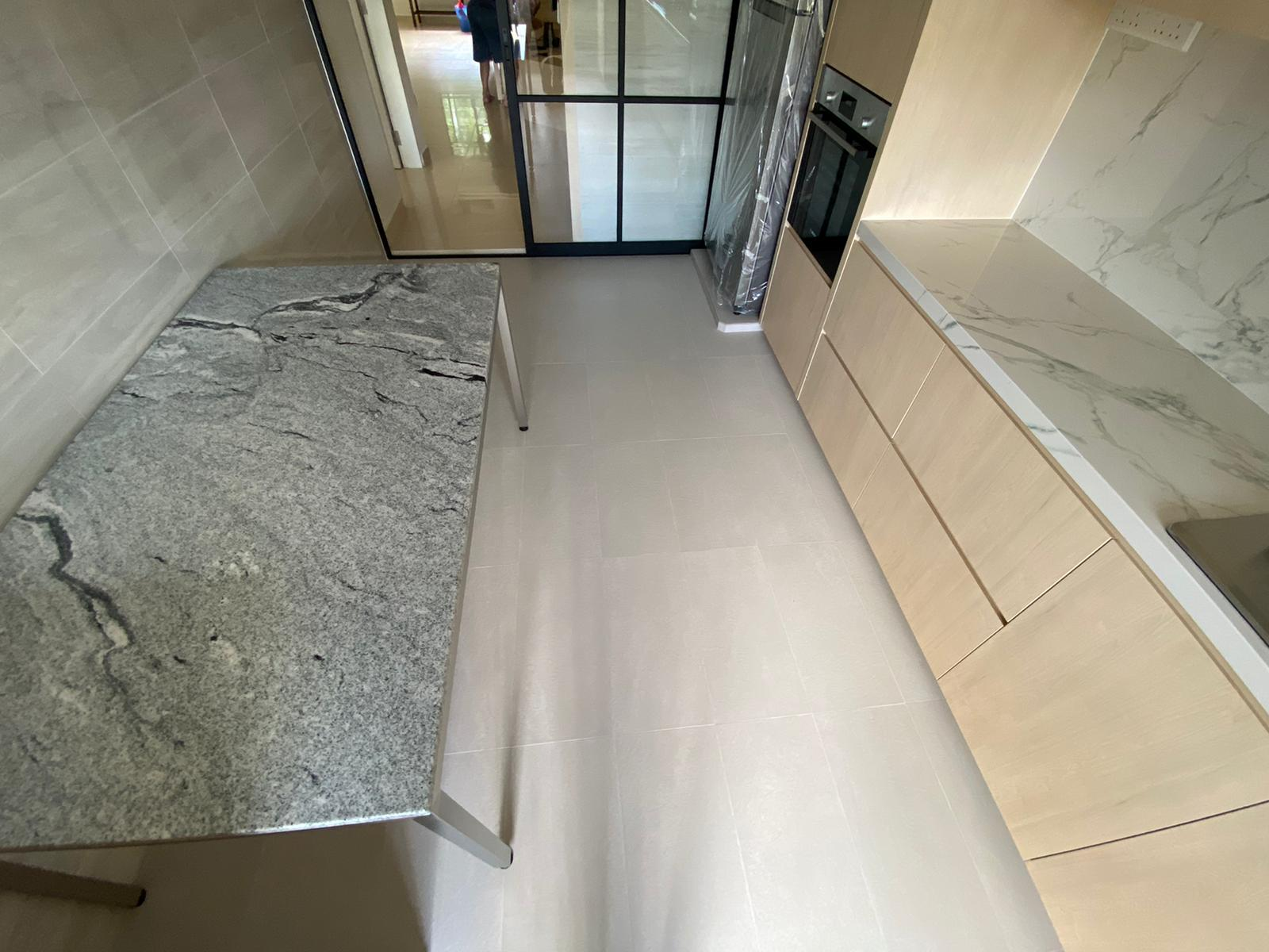 Hilo 1600L x 900W, Blanco Vis Granite, Polished, Stainless Steel, Hairline (2)