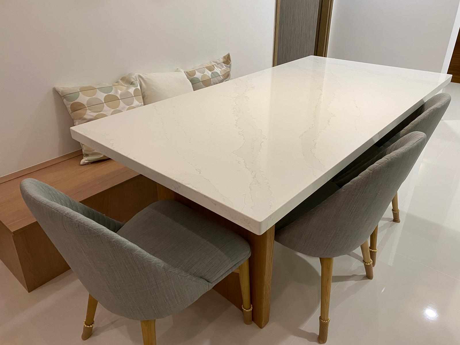 Curved Solid, 1800L x 900W, Silestone, Calacatta Gold, Quartz, Oak, Natural (5)